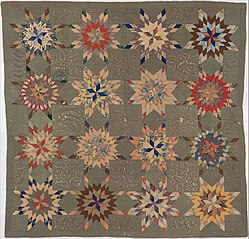 Quilt, Star of Bethlehem pattern variation