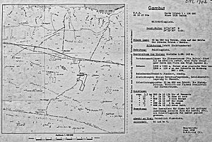 RAF Gambut - Captured 1942 German Luftwaffe map of the airfield complex