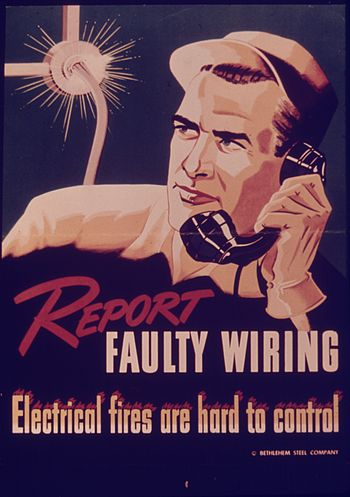 REPORT FAULTY WIRING - ELECTRICAL FIRES ARE HA...
