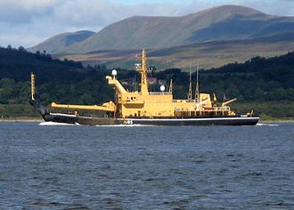 Royal Maritime Auxiliary Service - Sal-class Salmoor passing Gourock on the Firth of Clyde
