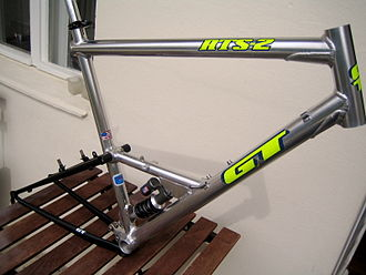 Aluminium alloy - Welded aluminium alloy bicycle frame, made in the 1990s.