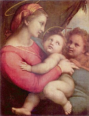 Ave Regina Caelorum - Madonna by Raphael, an example of Marian art.