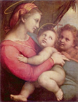Mary, Mother of Grace - Madonna by Raphael, an example of Marian art