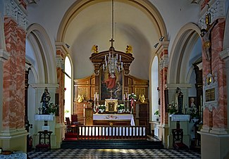 Rakowice Cemetery, Chapel of the Ressurection (inside), 26 Rakowicka street, Krakow, Poland.jpg
