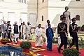 Ram Nath Kovind, the Vice President, Shri M. Venkaiah Naidu, the Prime Minister, Shri Narendra Modi, the Speaker, Lok Sabha, Smt. Sumitra Mahajan and the Union Minister for Chemicals & Fertilizers and Parliamentary Affairs.jpg