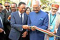 Ram Nath Kovind and the President of Madagascar, Mr. Hery Rajaonarimampianina inaugurating the Centre for Geoinformatics Application in Rural Development (CGARD) Technology Centre, at Antananarivo, in Madagascar.jpg