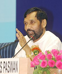 Ram Vilas Paswan addressing at the press conference on the conclusion of the Second Meeting of the Fertiliser Advisory Forum comprising delegates from States, Industry representatives.jpg