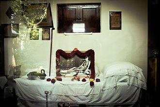 Sri Ramana Ashram - Ramana Maharshi Mahanirvana place in Sri Ramana Ashram.