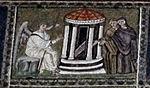 Ravenna, sant'apollinare nuovo, int., storie cristologiche, epoca di teodorico 13 marie al sepolcro.jpg