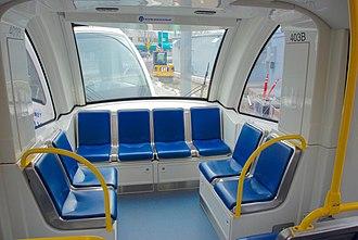 Siemens S70 - Image: Rear interior of Portland Siemens S70 LRV, Tri Met Type 4