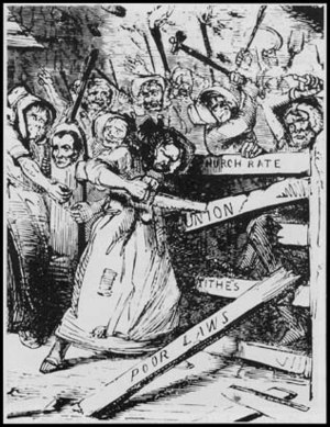 Rebecca Riots - Cartoon published in Punch in 1843