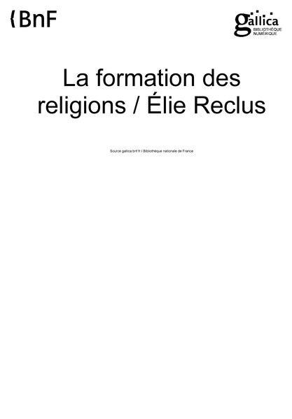 File:Reclus - La Formation des religions.djvu