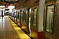 Red Line train at Alewife station, April 2006.jpg