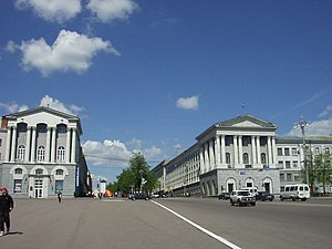 Kursk - Stalin-era buildings flanking Kursk's Red Square