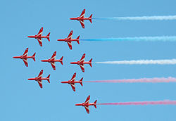 Red arrows in apollo formation cotswoldairshow 2010 arp.jpg