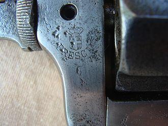 Bodeo Model 1889 - Royal Arsenal of Brescia mark