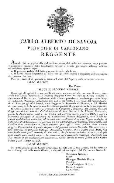 File:Regno di Sardegna - Decreto 15 marzo 1821 (Carlo Alberto).djvu