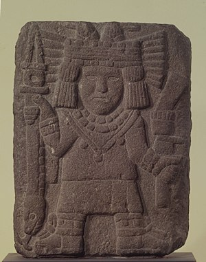 Chicomecoatl - Relief with Maize Goddess (Chicomecóatl) Brooklyn Museum