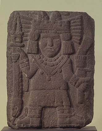 Chicomecōātl - Sculpture Depicting Chicomecóatl on display at the Brooklyn Museum in New York