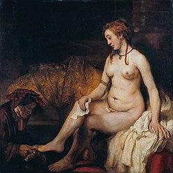 렘브란트: Bathsheba at Her Bath