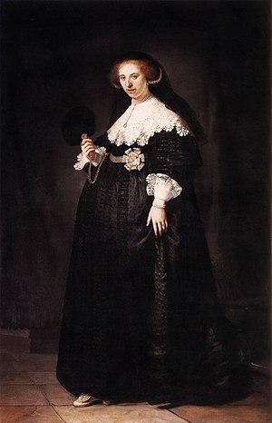 Portrait of Marten Soolmans - Image: Rembrandt Portrait of Oopjen Coppit