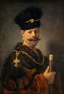 <i>A Polish Nobleman</i> painting by Rembrandt