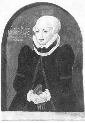 Christoph, Duke of Württemberg - Anna Maria of Brandenburg-Ansbach