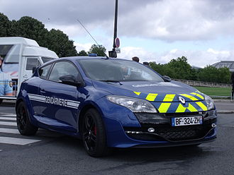 Law enforcement in France - Renault Mégane RS of the Gendarmerie Nationale.