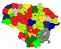 Results of Lithuanian councils of municipalities election, 2003.png