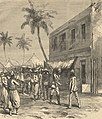 Return of Mr Stanley to Bagamoyo, from a sketch by Lieutenant Henn RN - ILN 1872.jpg