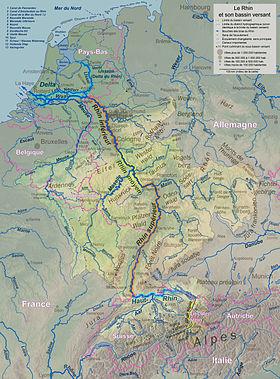 Cours et bassin versant du Rhin (voir aussi la carte détaillée). d73174e78d6