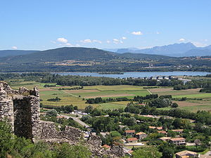 View Rhone river near Montelimar, France