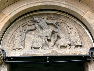 Danish sculpture - Removal from the Cross at Ribe Cathedral (ca. 1175)