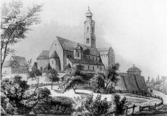 St. Peter's Church, Straubing - View of St. Peter's, ca. 1860