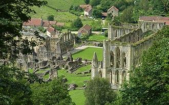 Rievaulx Abbey - Image: Rievaulx Abbey from Rievaulx Terrace