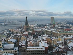Riga old town skyline