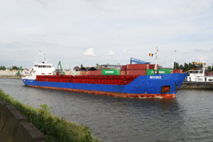 Port of Brussels - Sea-going vessel Ritske in the port of Brussels