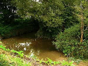 River Alham - The ford across the river at Alhampton