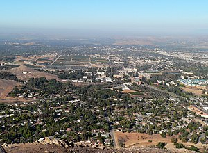 University of California, Riverside campus - View from Box Springs Mountain