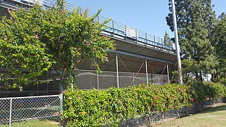 Riverside Sports Complex - Image: Riverside Sports Complex (UC Riverside) grandstand batting cages