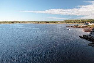 Piashti River watercourse in Canada