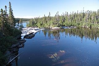 Watshishou River river in Quebec (Canada)
