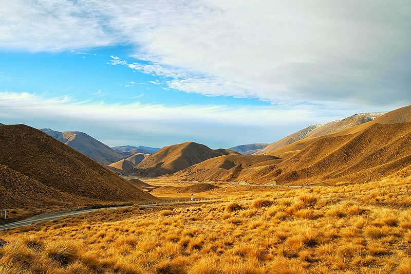 File:Road through golden hills (Unsplash).jpg