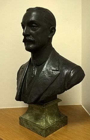 Robert Hadfield - Bust in the Sir Robert Hadfield Building, University of Sheffield
