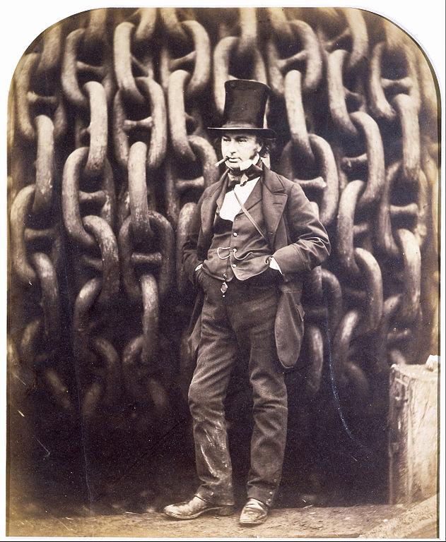 Photo du V&A de Londres :  Isambard Kingdom Brunel and the launching chains of the Great Eastern.
