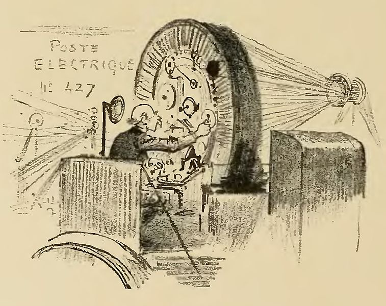 Albert ROBIDA - La vie électrique (1893) 757px-Robida_-_Le_Vingti%C3%A8me_si%C3%A8cle_-_la_vie_%C3%A9lectrique%2C_1893_%28page_304_crop%29