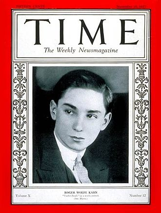 Roger Wolfe Kahn - Roger Wolfe Kahn on the cover of Time magazine (September 19, 1927)