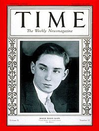 200px roger wolfe kahn on the cover of time magazine (september 19, 1927)
