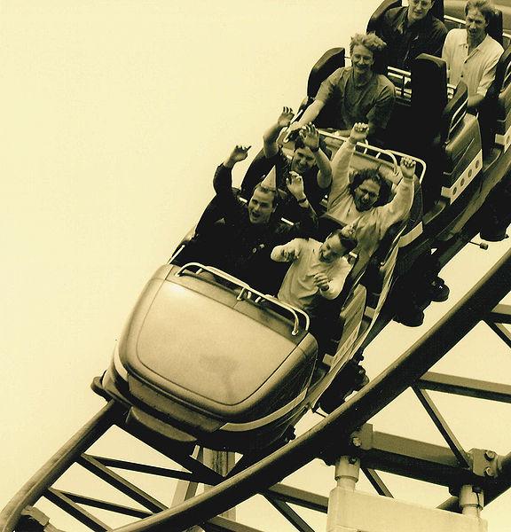 File:Roller coaster B&W 1995.jpg