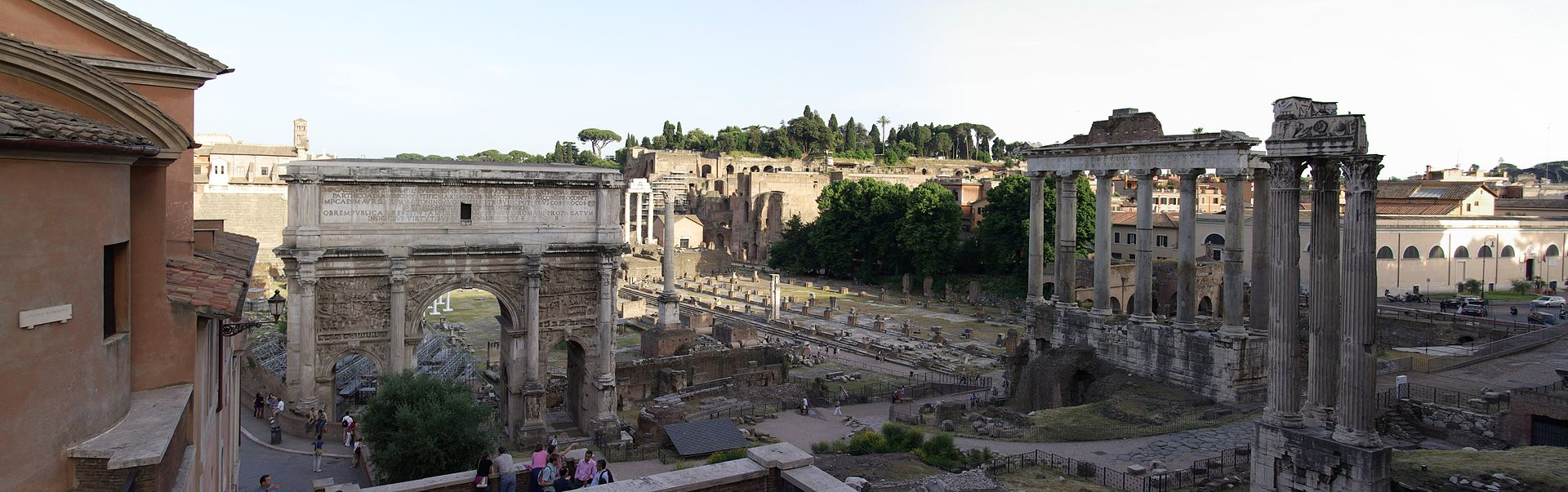 Ancient Roman Forum Ruins